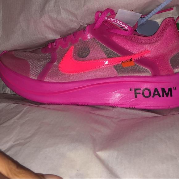 Shoes   Nike Zoom Off White Pink   Poshmark